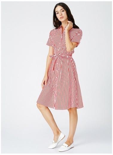 Fabrika Fabrika Kadın Beyaz-Kırmızı Elbise Beyaz